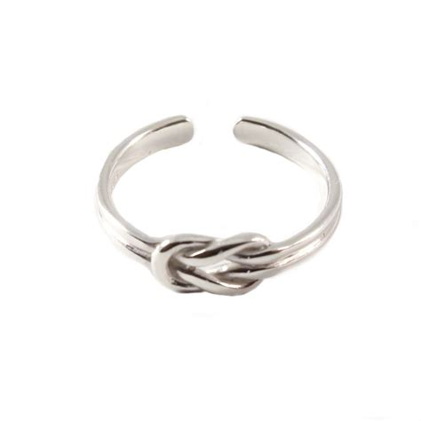 charm school uk gt sterling silver toe ring gt reef knot design