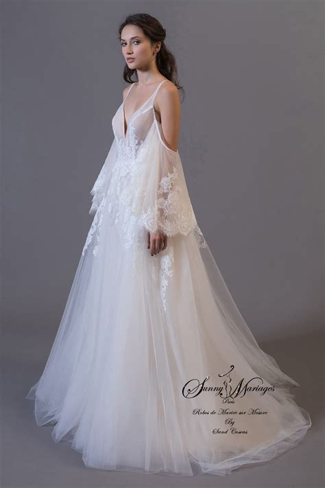 Robe Tulle Mariage - robe de mari 233 e en dentelle et tulle boheme chic