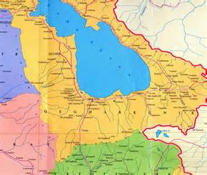 map of and armenia republic of armenia administrative map