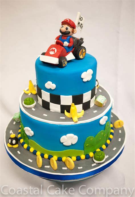 mario kart themed birthday cake cakecentralcom
