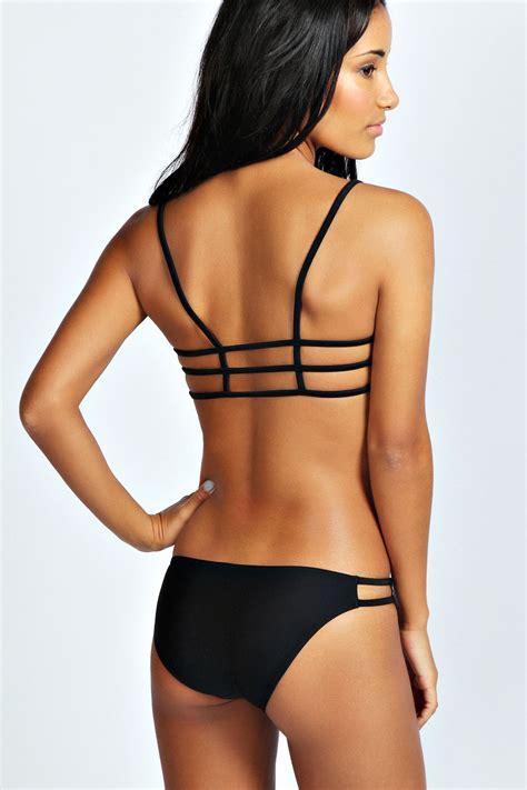 Kids Bedroom Colors bondi strappy cut out bikini black black online