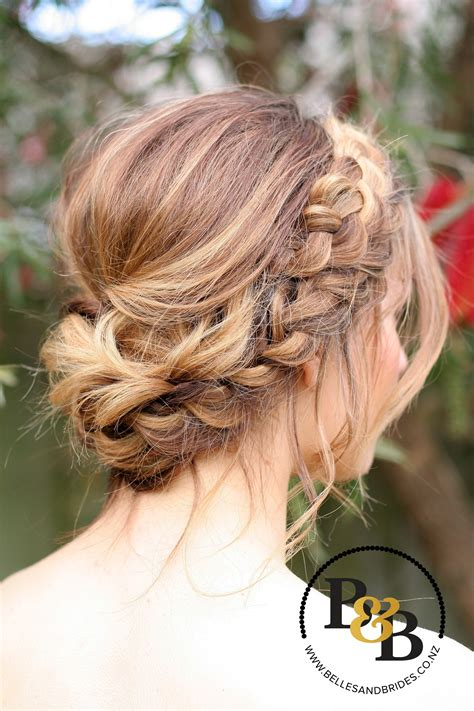 Wedding Hair Bridesmaid by Wedding Hair With Braid Bridal Updo Bridesmaids