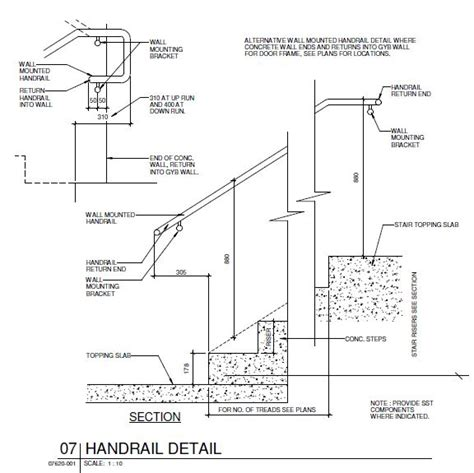 Handrail Detail handrail detail cad files dwg files plans and details