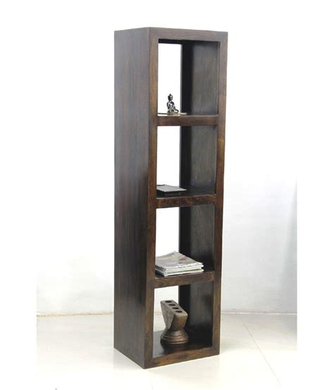 4 Shelf Book Rack by Junglewood Brown 4 Shelf Cubical Display Rack Book Shelf Available At Snapdeal For Rs 8900