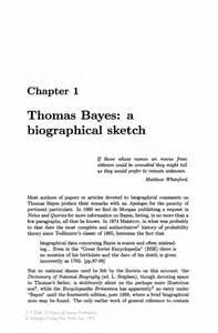 thomas bayes a biographical sketch springer