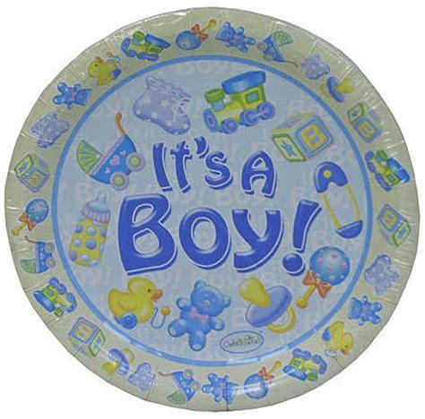 baby shower plates boy quot it s a boy quot baby shower 7 quot salad dessert plate 8