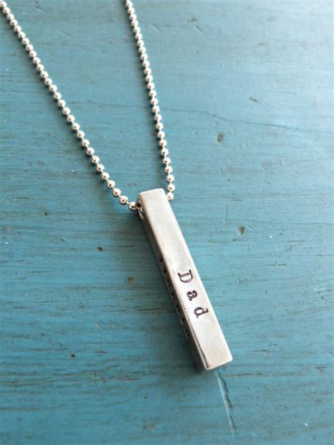 mens bar necklace mens jewelry personalized mens gift