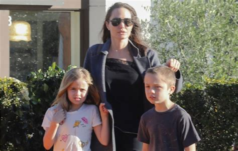 Brad Angelinas Custody Battle by Spotted With The As Brad Pitt Fights