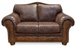 Rustic Leather Sofas Sterling Chaparral Leather Loveseat Rustic Sofas