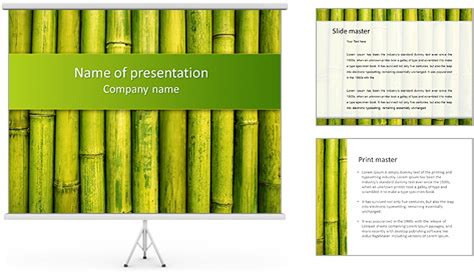 Green Bamboo Powerpoint Template Backgrounds Id 0000004332 Smiletemplates Com Bamboo Powerpoint Template
