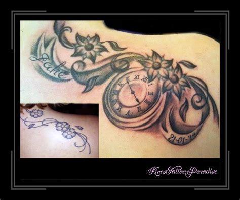tattoo arm klok tattoo rozen met klok google zoeken dingen om te kopen