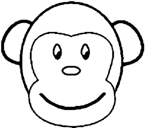 monkey head coloring page sock monkey family coloring pages coloring pages