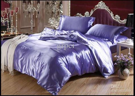 purple satin comforter purple blue mulberry silk satin comforter bedding set