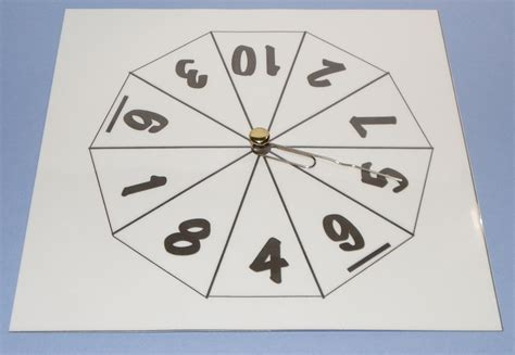 printable spinner with numbers 1 10 number spinners for maths craft n home