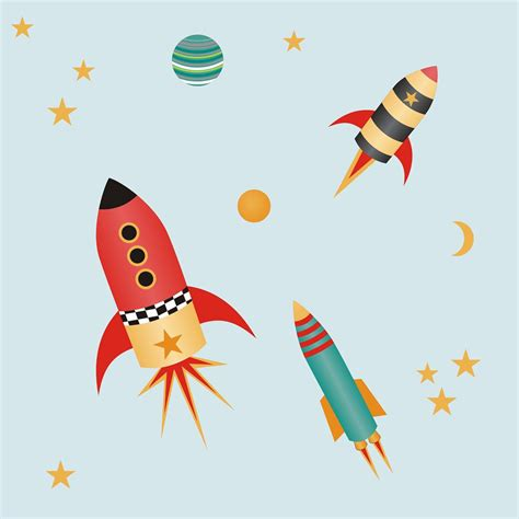 rocket wall stickers rocket wall stickers for ethical market