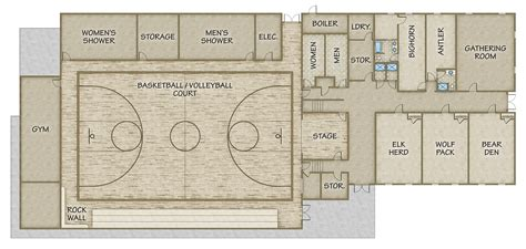 basketball gym floor plans gallery river canyon retreat