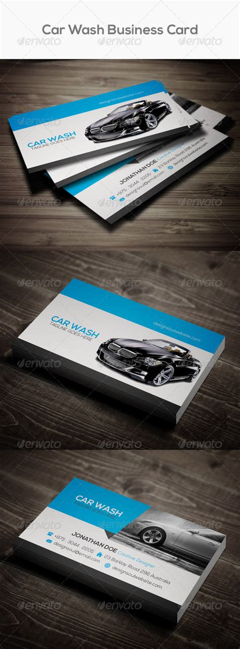 auto detailing business card template free car wash business card graphicriver