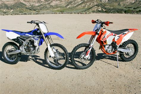 Ktm 250 Xc F Review 2015 Ktm 250 Xc F Vs Yamaha Yz250fx Comparison Review
