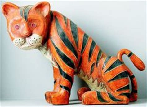 How To Make A Paper Mache Tiger - papier mache display figure tiger bronx zoo promotion