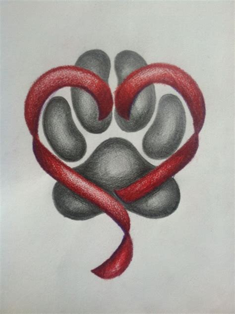 paw print heart tattoo designs tattoos and designs page 184