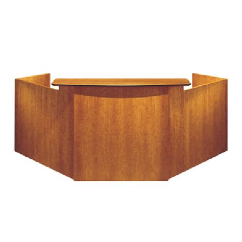Corner Reception Desk Jasper Swirve Transitional Veneer Corner Reception Desk Workstation