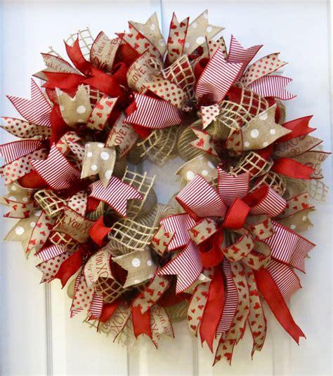 valentines wreaths wreath s day wreath burlap