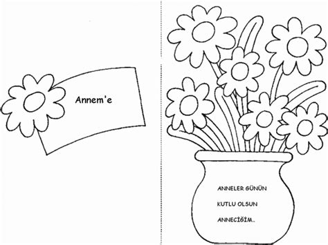 simple mothers day card activities with templates for 6th graders anneler g 252 n 252 i 231 in boyamalar kart olanlar da var 214 nce