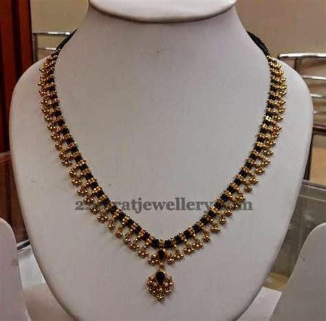 black bead necklace indian muvvala haram with black indian jewelry india
