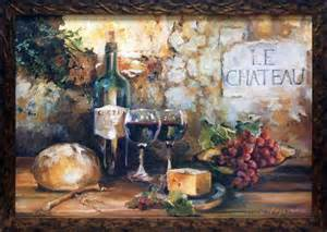 Grapes And Wine Home Decor Framed Art Print Tuscany Style Grapes Wine Home Kitchen