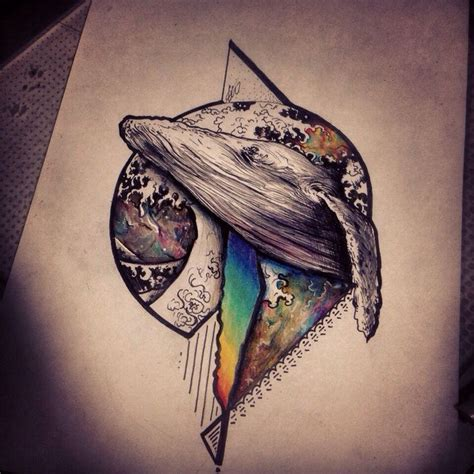 geometric tattoo whale 141 best tattoos images on pinterest whale tattoos