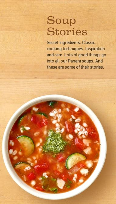 Panera Soups Are Inspired By Special Recipes And Garden Vegetable Soup Panera
