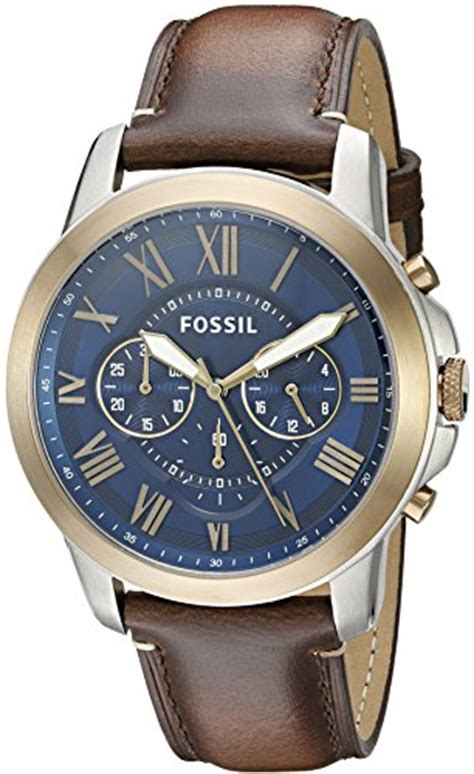 Fossil Grant Chronograph Fs5150 fossil s fs5150 grant chronograph brown leather b017sn1k82 price