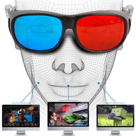 Kacamata 3d Cyan Frame Plastik 2017 cool universal type 3d glasses blue cyan anaglyph 3d plastic glasses tv dvd