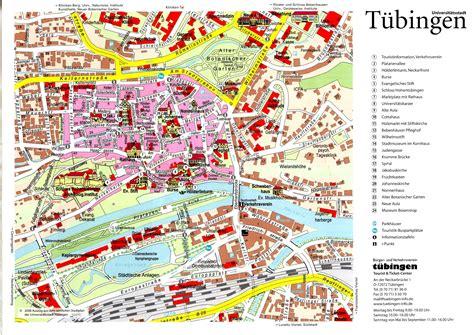 tubingen germany map t 252 bingen tourist map tuumlbingen germany mappery