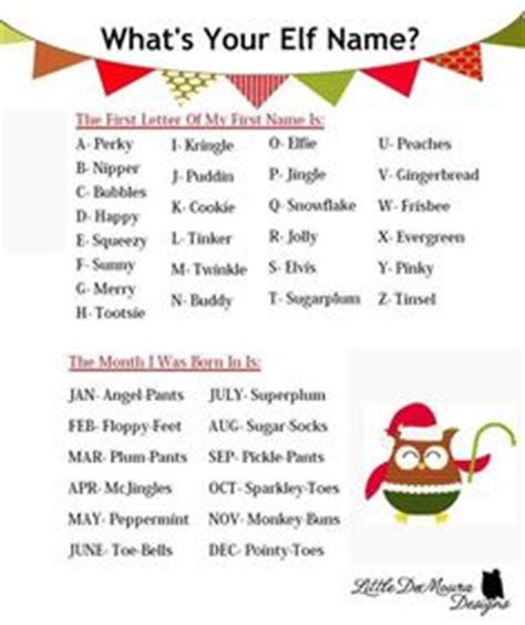 random christmas elf name generator 1000 images about what is your name on names names and names