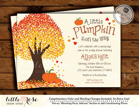 Lil Pumpkin Baby Shower Invitations by Template Pumpkin Baby Shower Invitations