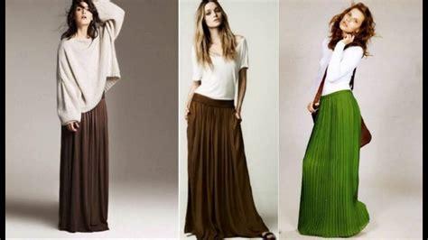 como combinar una falda larga c 243 mo combinar una faldas largas youtube