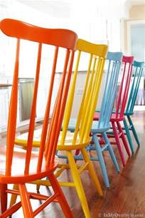 Colorful Chairs For Sale Design Ideas Furniture Makeover Spray Painting Wood Chairs In My Own Style