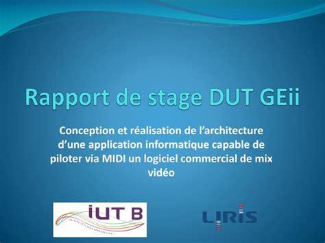 ppt rapport de stage dut geii powerpoint presentation