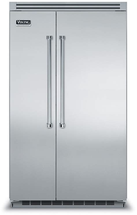 French Door Refrigerator With Dual Ice Makers - viking vcsb5483ss 48 inch built in side by side refrigerator with 29 1 cu ft capacity 5