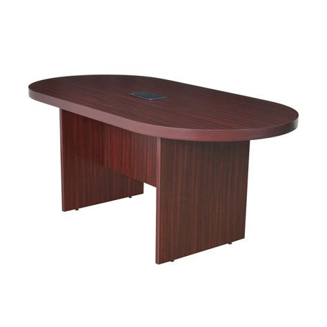 conference table with power legacy 71 quot racetrack conference table with power data grommet mahogany