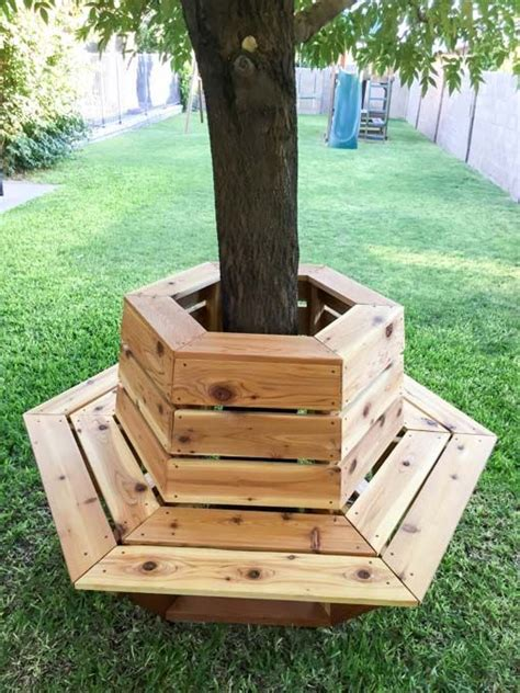 bench tree group llc gardens hexagons and backyards on pinterest