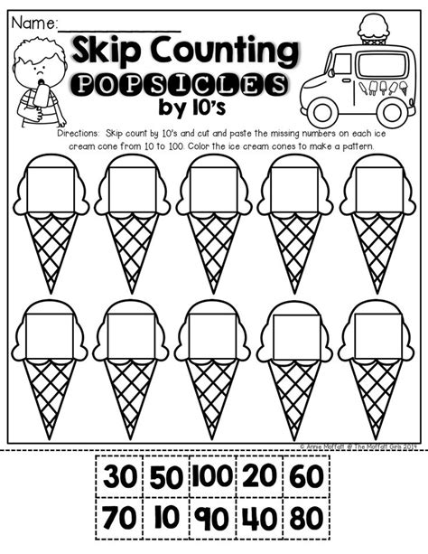 printable worksheets counting by 2 5 10 skip counting worksheets preschool skip counting by 5