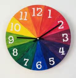 cool house clocks color wheel for kids make a cool clock art for kids and