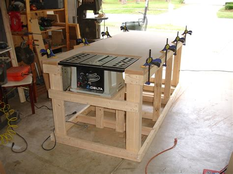 backyard workshop ultimate workbench building