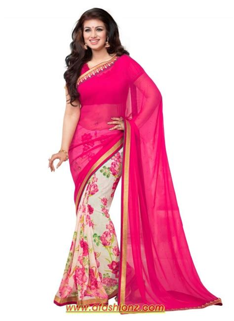 fashion sarees net pink saree for wear models