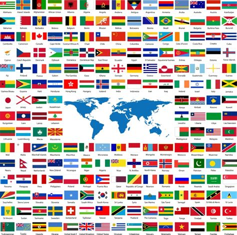 all flags of the world printable pays voyages cartes