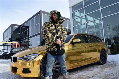 trump gold plated car sa bmw plaqu 233 e or attire l attention jdm