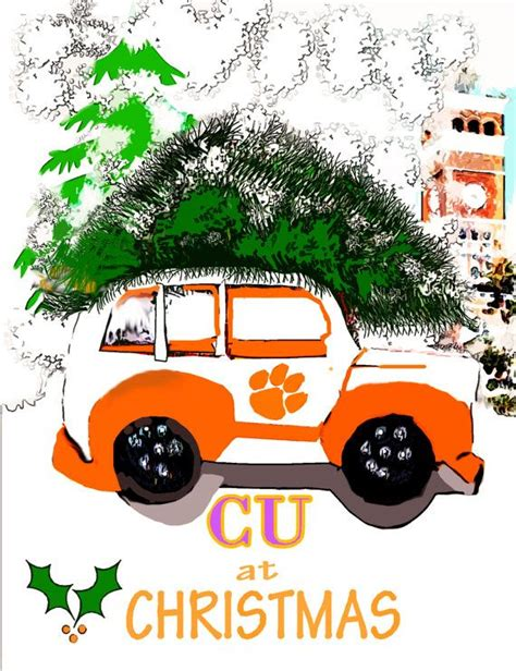 clemson christmas greetings and cus d amato on pinterest