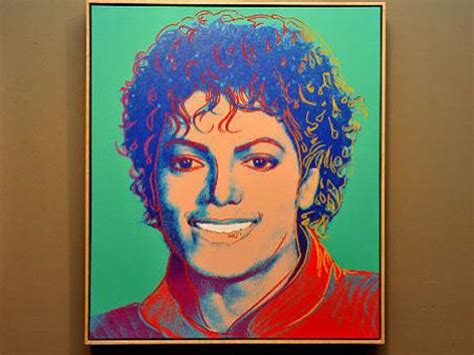 Interior Stuff rare michael jackson portrait by andy warhol up for sale
